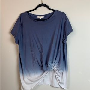 Umgee XL Tie Dye Knotted T-Shirt Tee